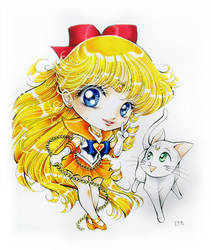 Chibi Sailor Venus commission by Suki-Manga