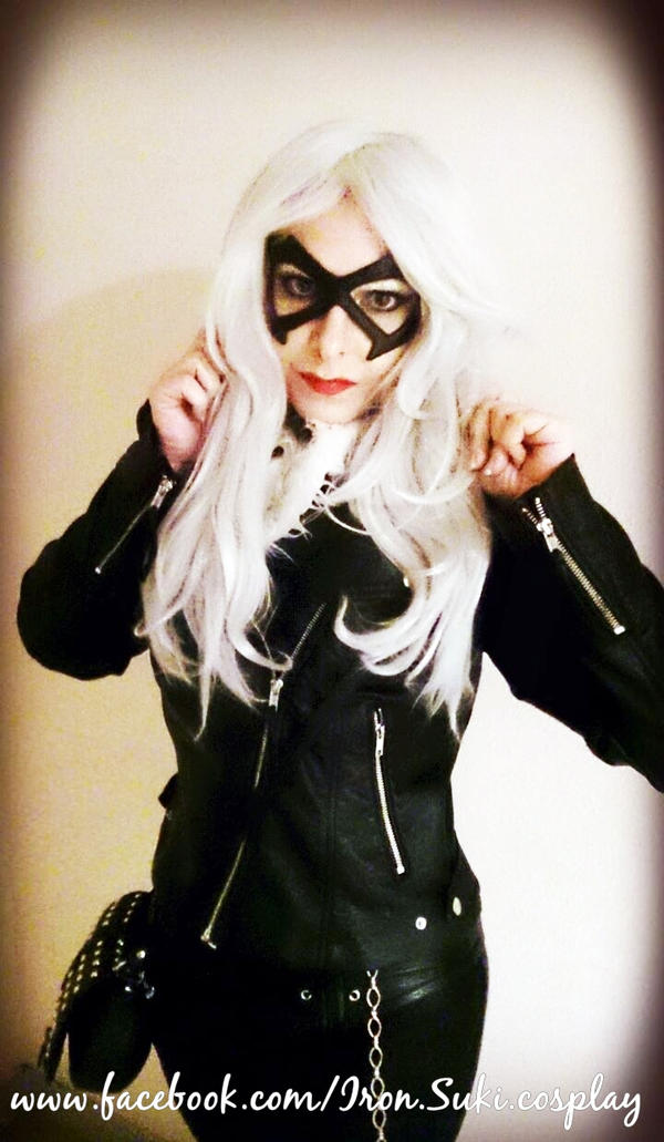 Black Cat cosplay, street style with jacket by Suki-Manga
