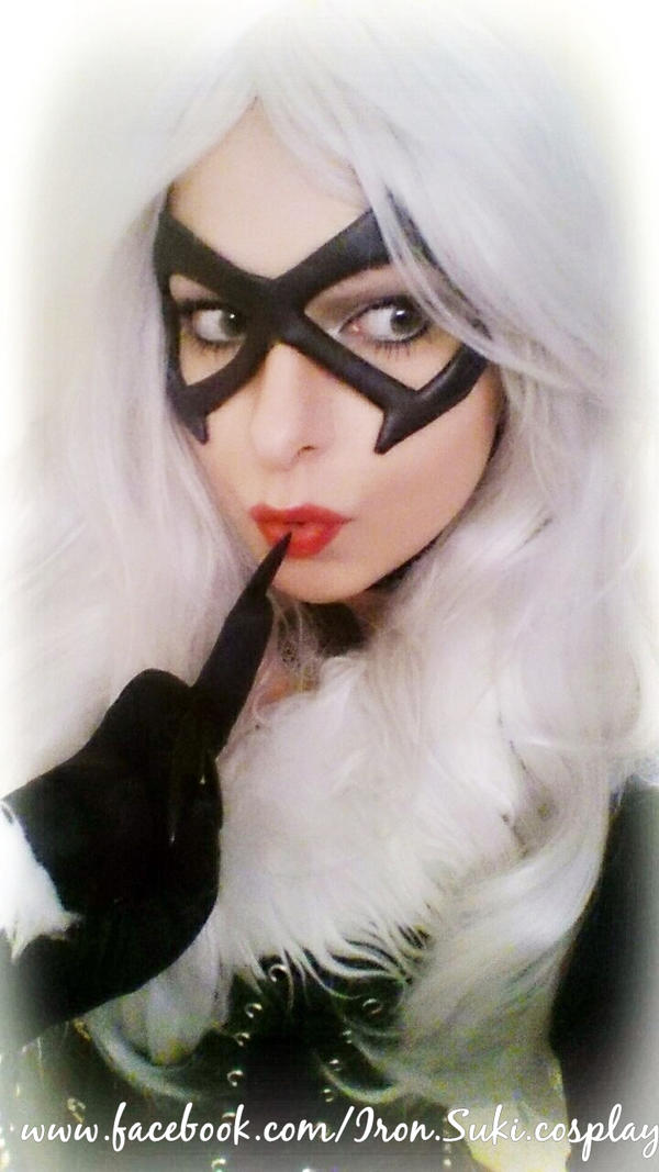 Black cat cosplay, planning something... by Suki-Manga