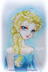 Elsa, frozen fan art by Suki-Manga