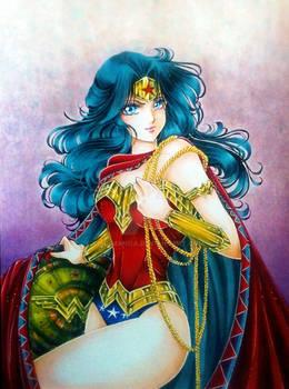 Wonder Woman fan art, shoujo style