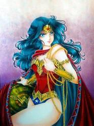 Wonder Woman fan art, shoujo style by Suki-Manga