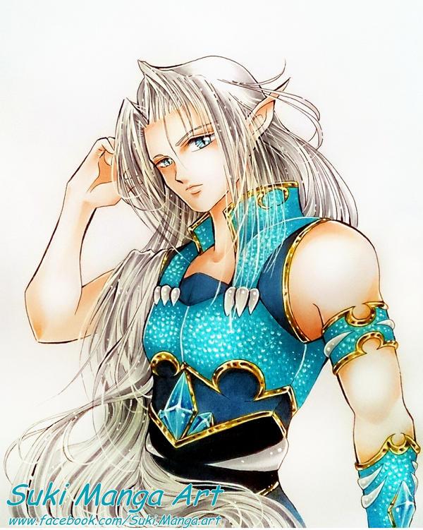 Gin, the silver Dragon, commission by Suki-Manga