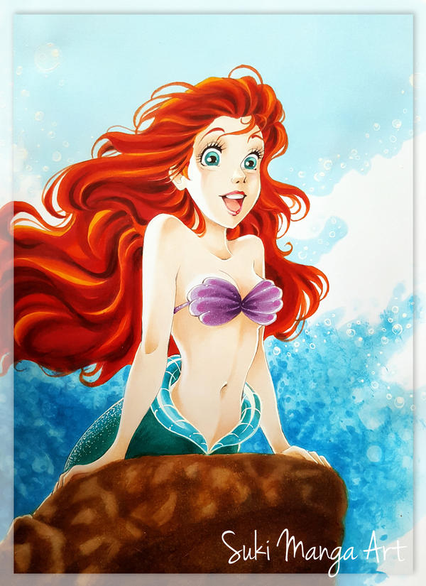 Ariel, The Little Mermaid by Suki-Manga