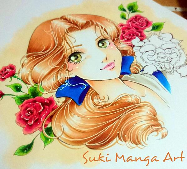 Beauty and her cutie Beast, work in progress by Suki-Manga