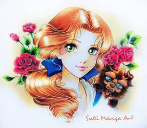 Beauty and her cutie Beast by Suki-Manga