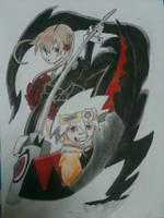 Soul Eater :.Maka and Soul.: (Second version) by Ibizase80