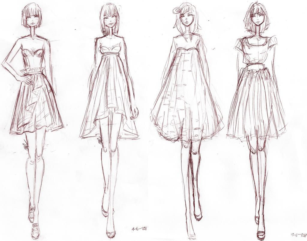 Adobe Illustrator Flat Fashion Sketch Templates - My 78