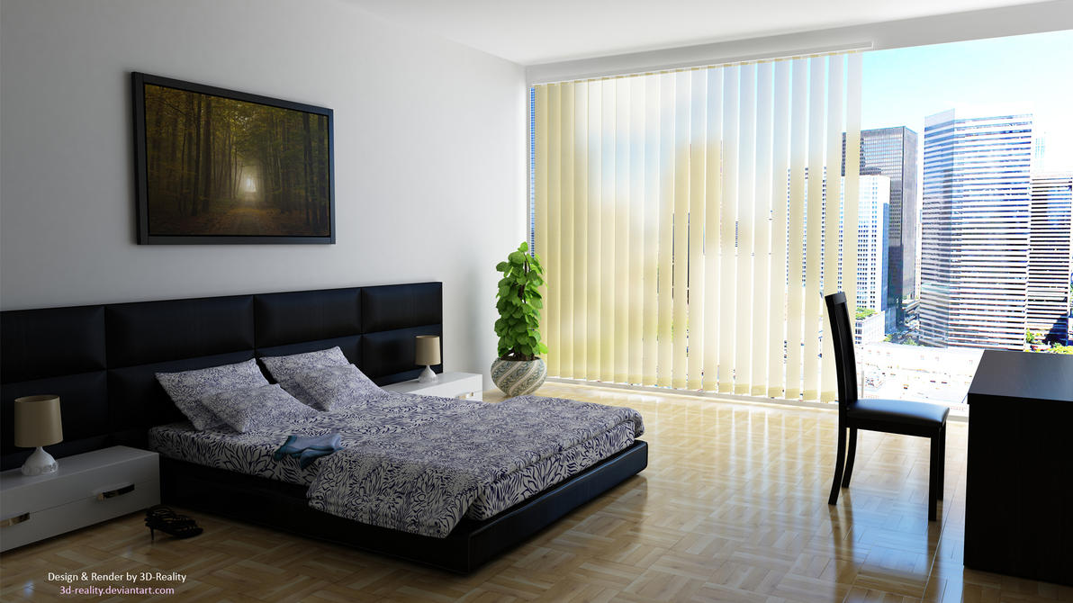 Nice bedroom by 3d reality on deviantart for Nice bedroom ideas
