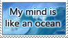 My mind is an ocean stamp by Trent7