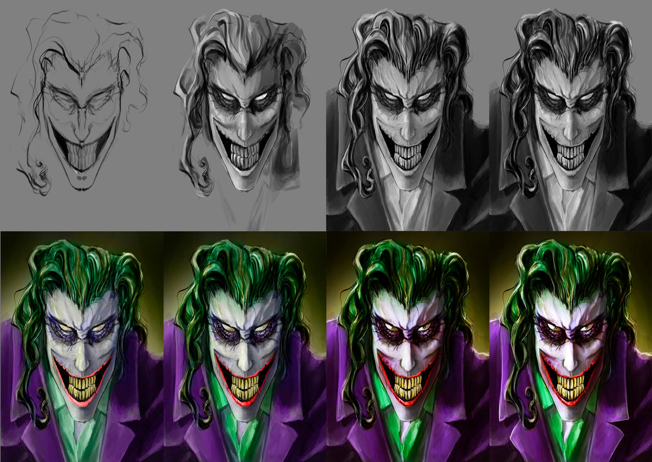 The Joker Step By Step By Spartanen How To Draw