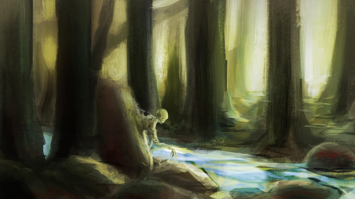 Forest spirit - lunch painting by SPartanen