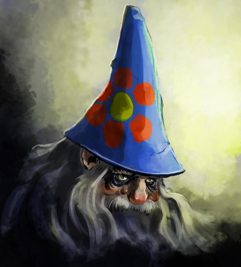 Garden gnome - daily sketch by SPartanen