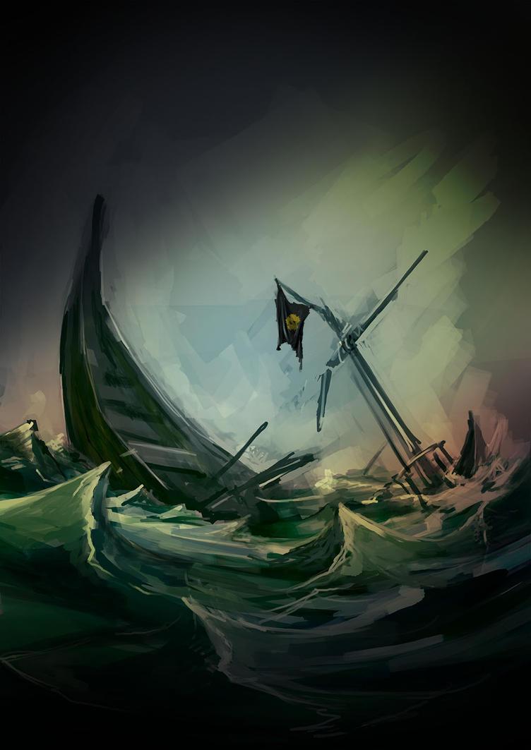 Sinking ship by SPartanen