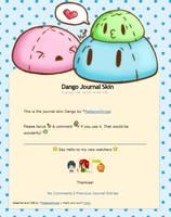 Dango Journal Skin ANIMATED by Metterschlingel