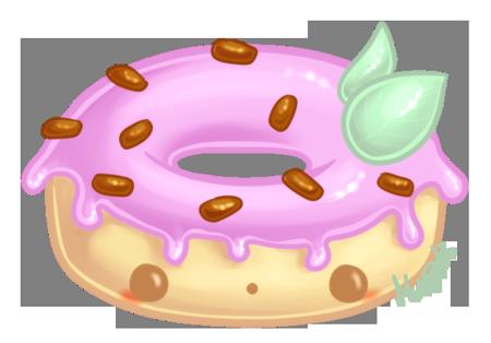 Cute Donut By Metterschlingel