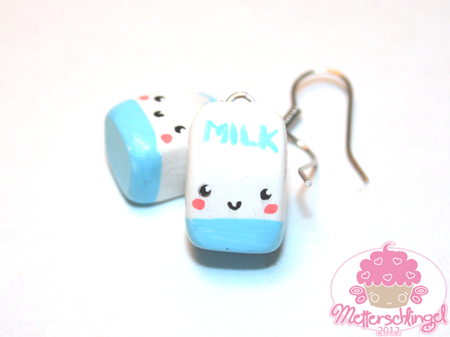 Kawaii Milk Earrings by Metterschlingel