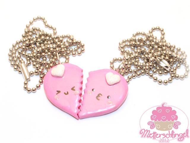 Friendship Heart Necklaces by Metterschlingel