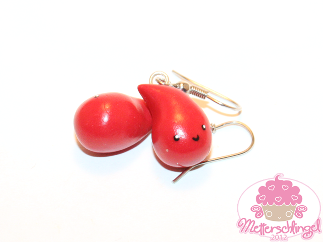 Cute Blood Drop Earrings by Metterschlingel