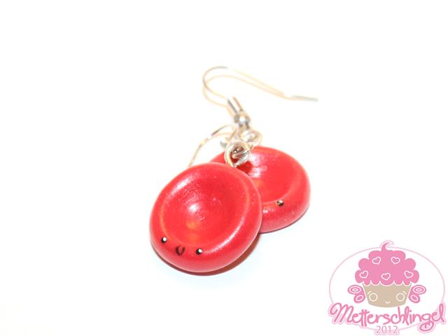 Blood Cell Earrings by Metterschlingel