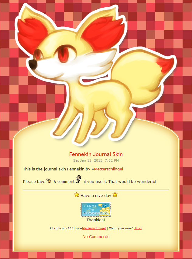 Fennekin Journal Skin by Metterschlingel