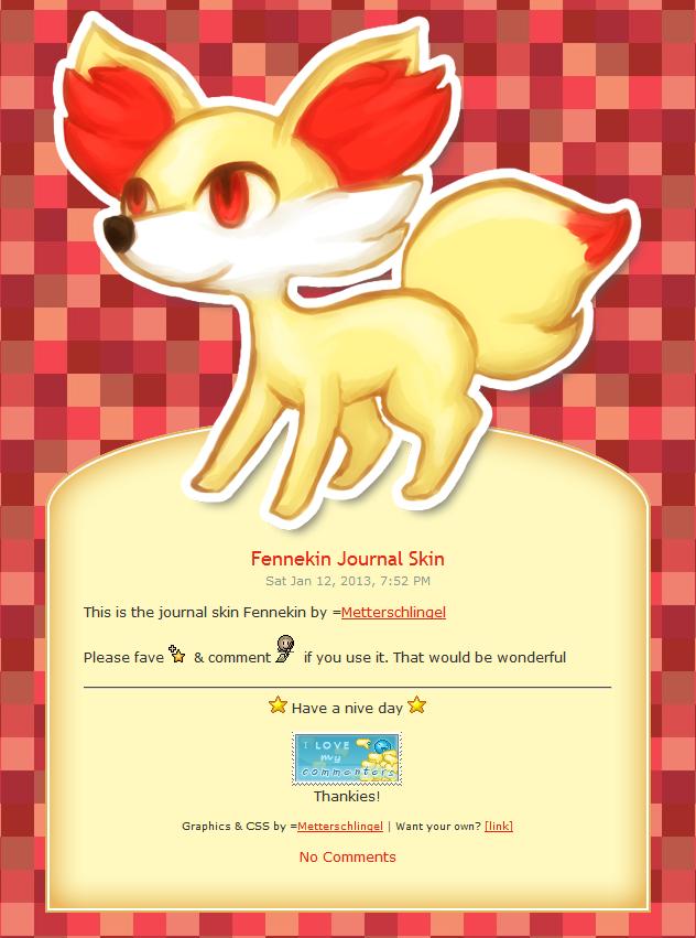 Fennekin Journal Skin by Metterschlingel