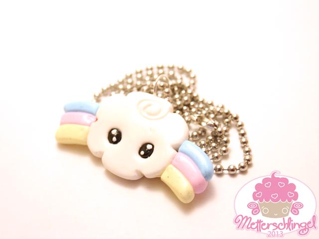 Rainbow Cloud Necklace by Metterschlingel
