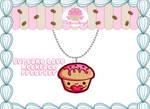 Cute Cupcake Necklace PREORDER