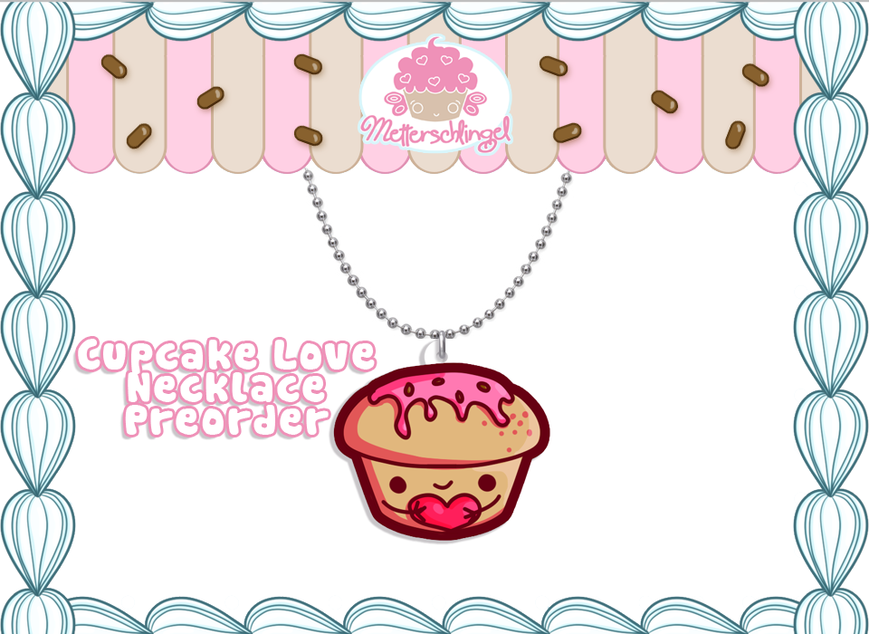 Cute Cupcake Necklace PREORDER by Metterschlingel