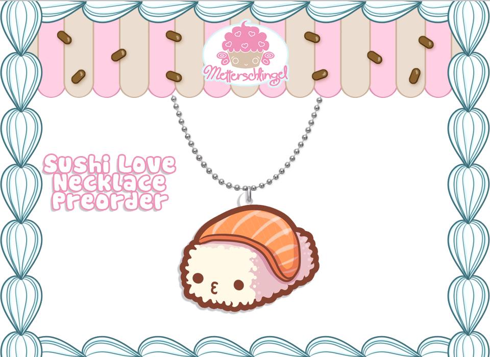 Sushi Love Necklace PREORDER by Metterschlingel