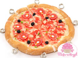 Pizza Earrings by Metterschlingel