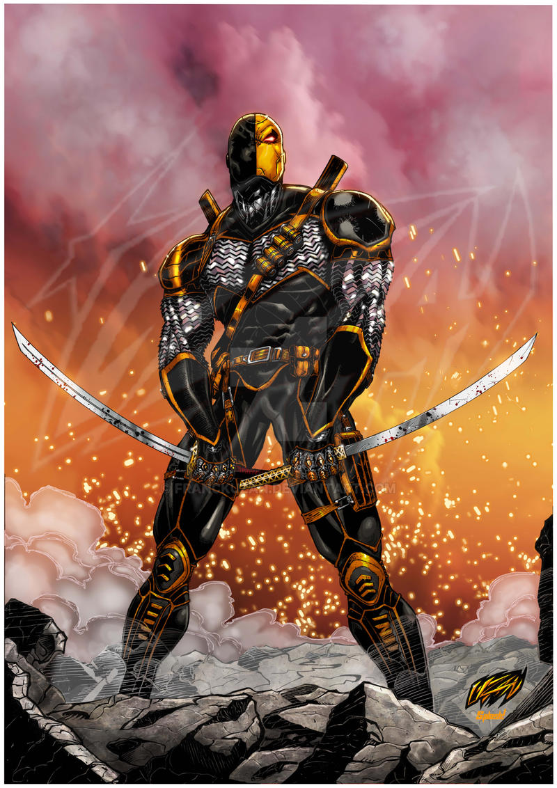 Dc Comics Fans : Deathstroke digitally colored watermarked by