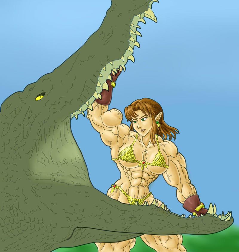 Loreane v Croc by tj-caris