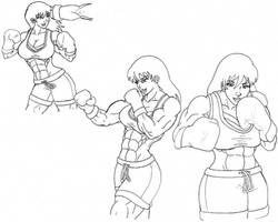 Queen of the Ring drawings by tj-caris