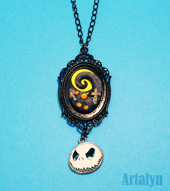 Pumpkin patch- Nightmare Before Christmas Necklace by Artalyn on ... Nightmare Before Christmas Pumpkin Patch Drawing