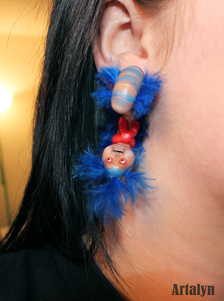 Labyrinth Worm Inspired Plugs -Limited Edition- by Artalyn