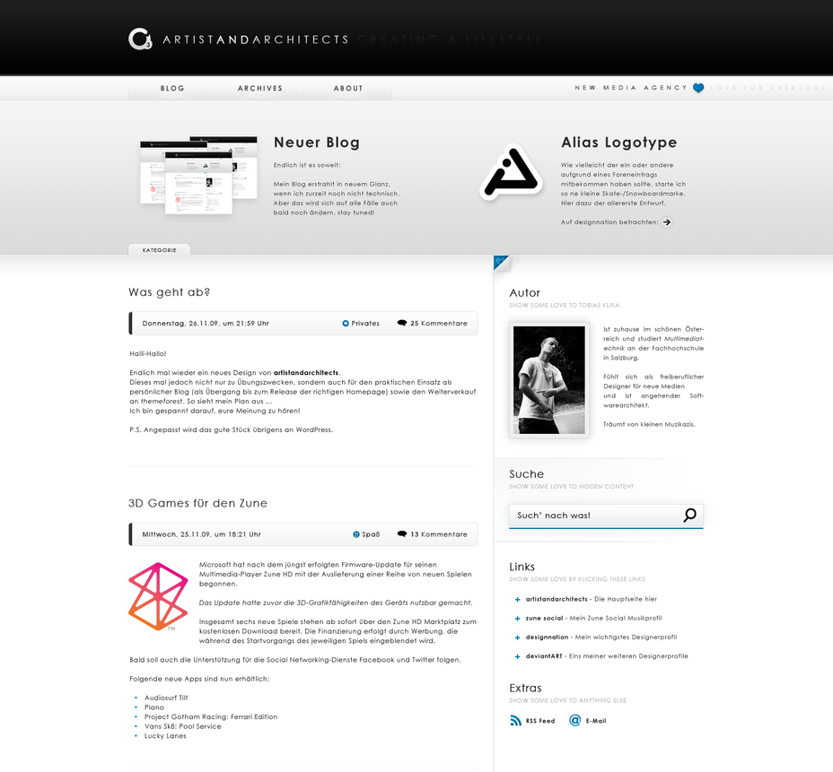 a3 Blogdesign no2 by emotioncore