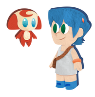 Monster Tale: Ellie and Chomp, papercraft style