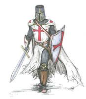 Templar Knight in Battle Dress by angelfire7508