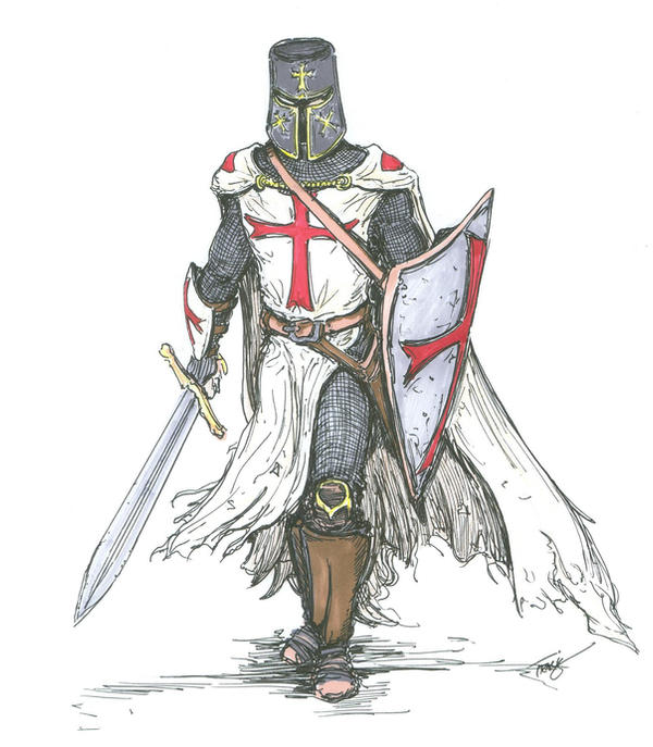 Templar Knight in Battle Dress