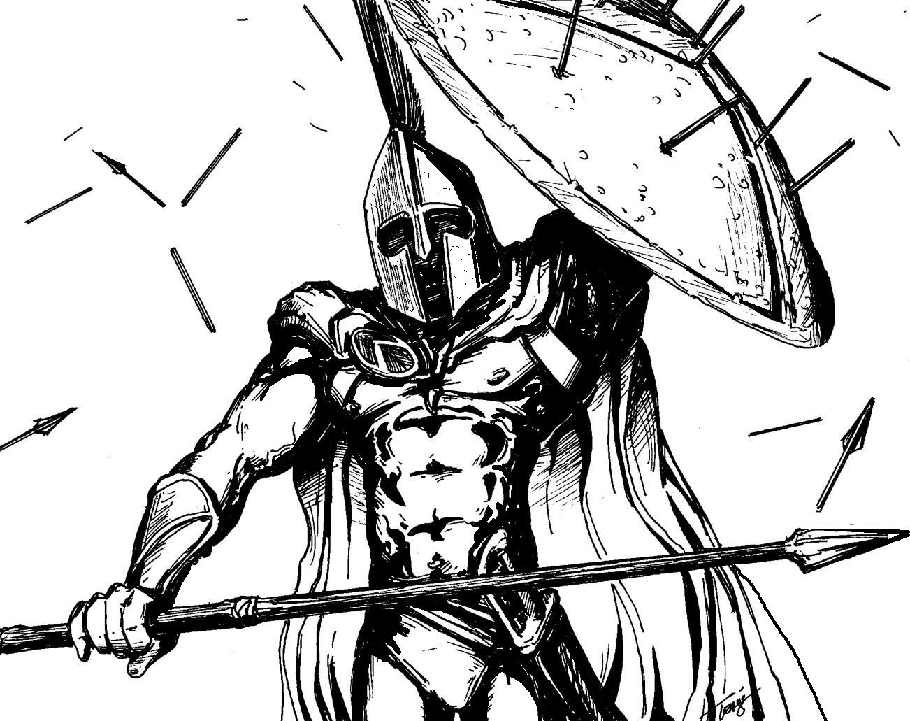 Spartan Soldier - 300 original by angelfire7508 on DeviantArt