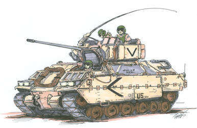 M2 Bradley Fighting Vehicle by angelfire7508