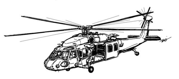 Line Drawing Helicopter : Uh blackhawk helicopter by angelfire on deviantart