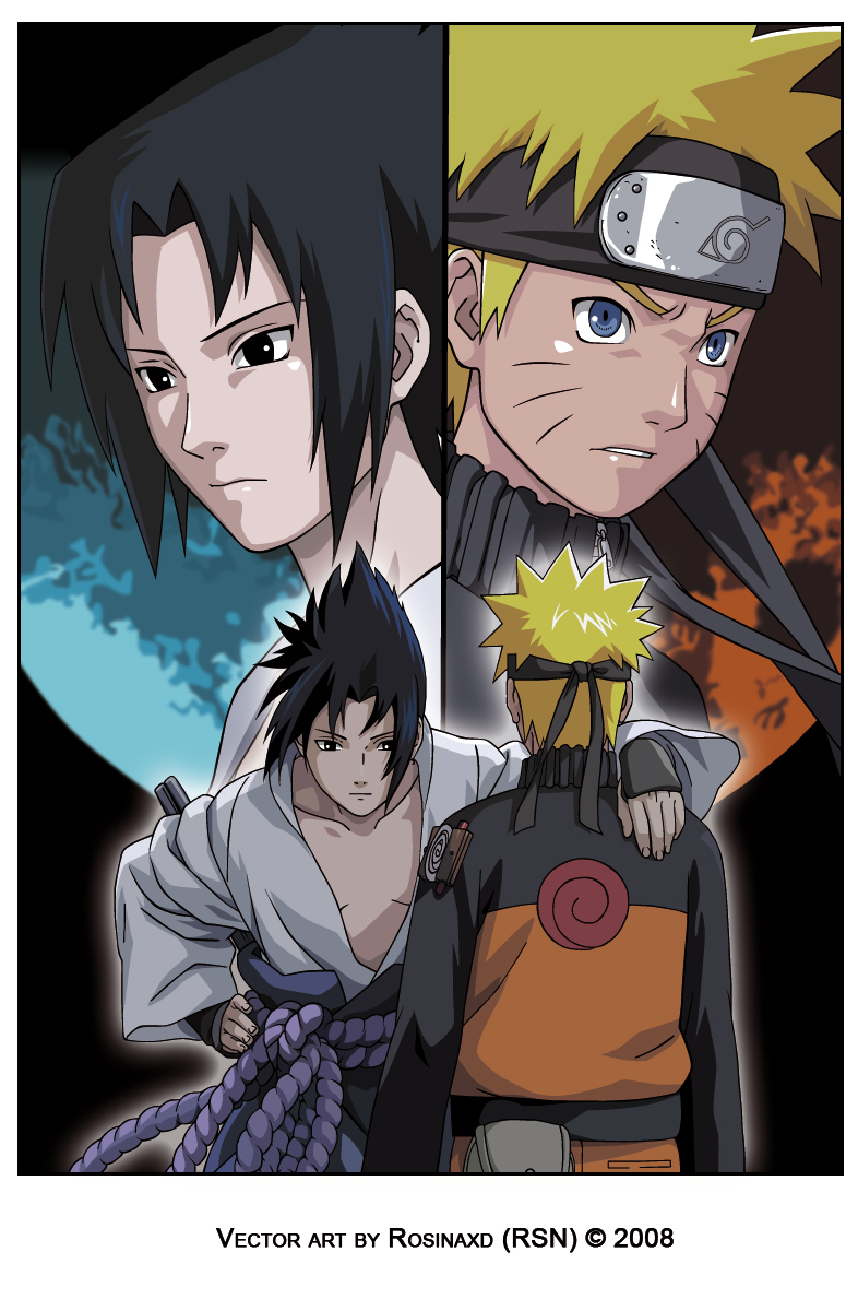 sasuke and naruto-shippuden by rosinaxd on DeviantArt
