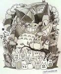 Totoro Doodle