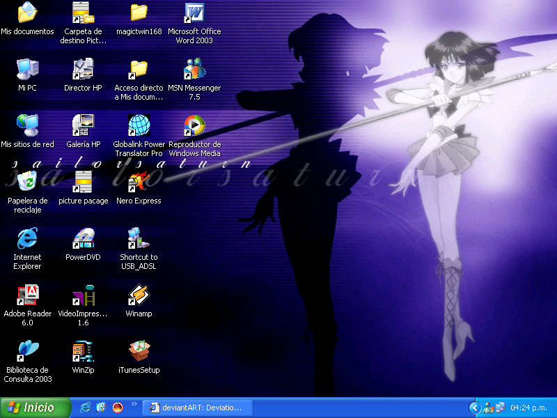 Sailor Saturn Desktop by Rock-n-Toons