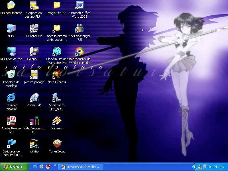 Sailor Saturn Desktop by Rock-n-Toons