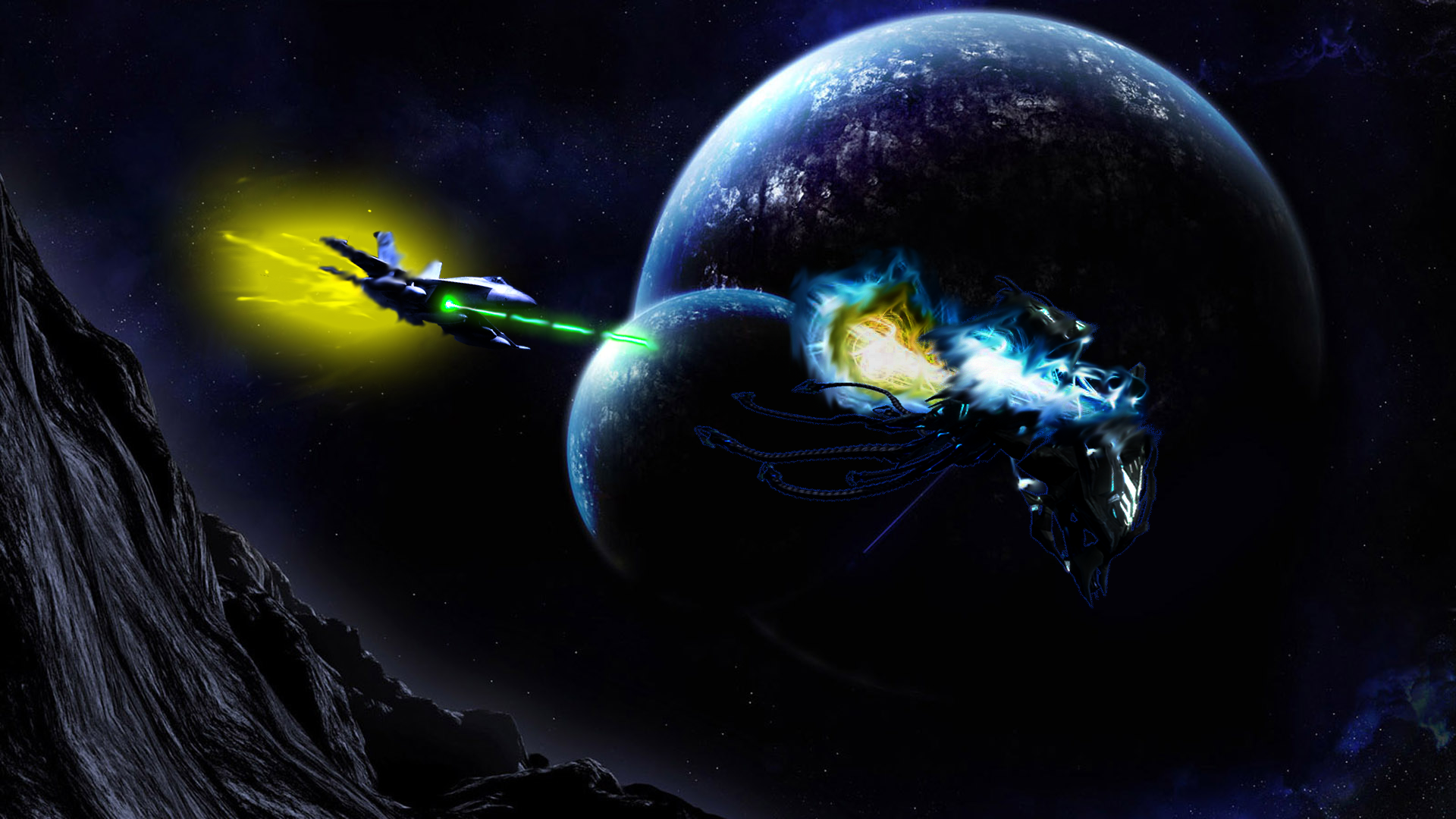 Epic Space Wallpaper: Epic Space Battle By DrilburNG On DeviantArt