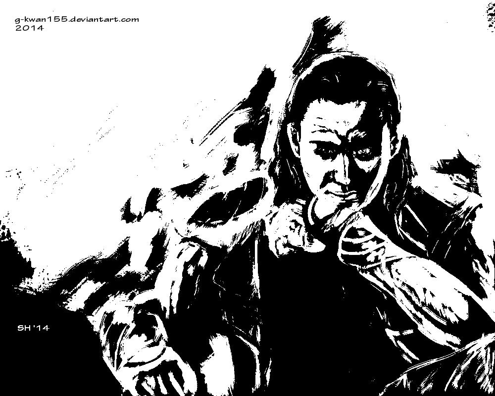 Loki black and white by g-kwan155