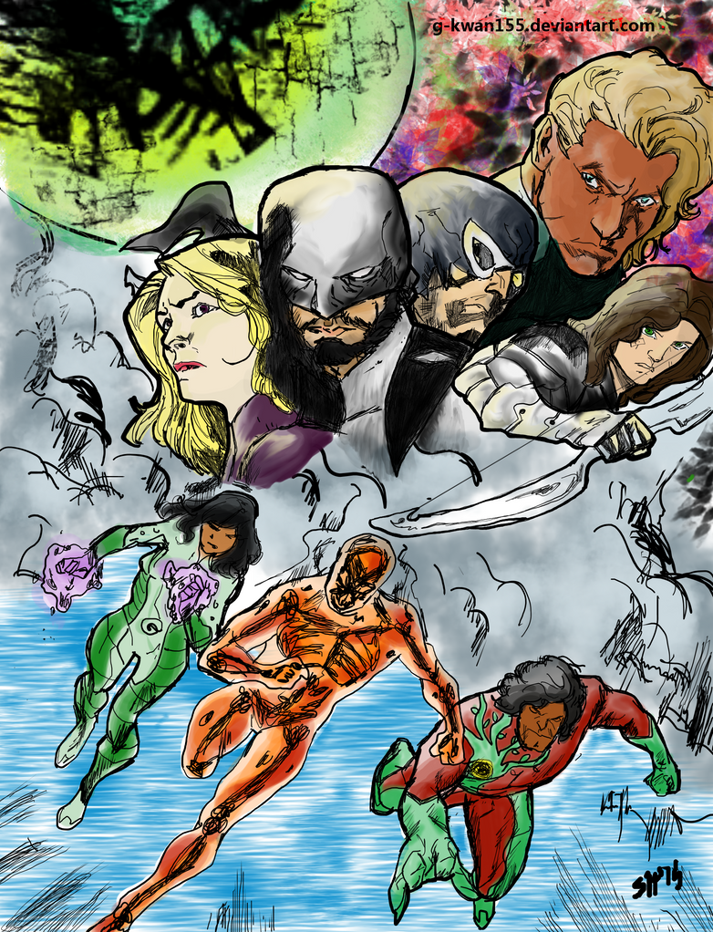 Guardians of Earth Vol 2 Colored by g-kwan155